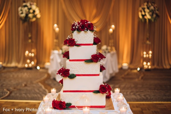 Indian wedding cake design details.