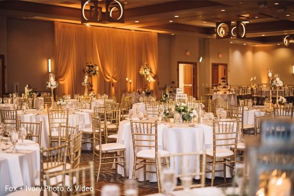 Indian wedding table decor details.