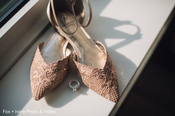 Indian bride's shoes design.