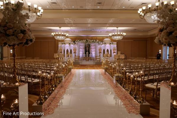 Indian wedding gala decoration details.