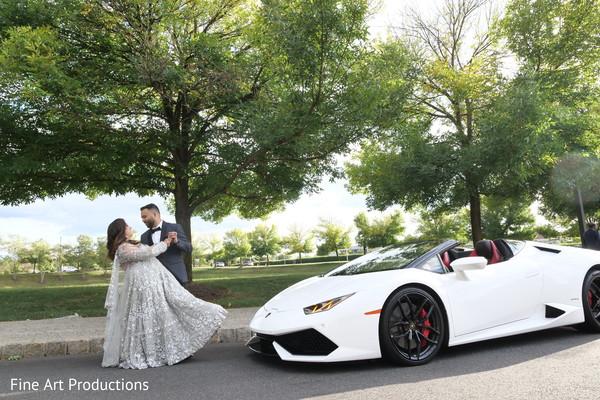 Raja and Maharani during the outdoor photoshoot.