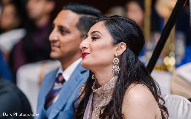 Maharani's wedding reception makeup look.