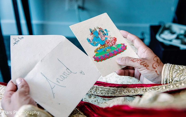 Sweet letter from Indian bride to the groom.