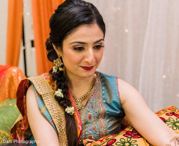 Indian bride on her pre-wedding fashion.
