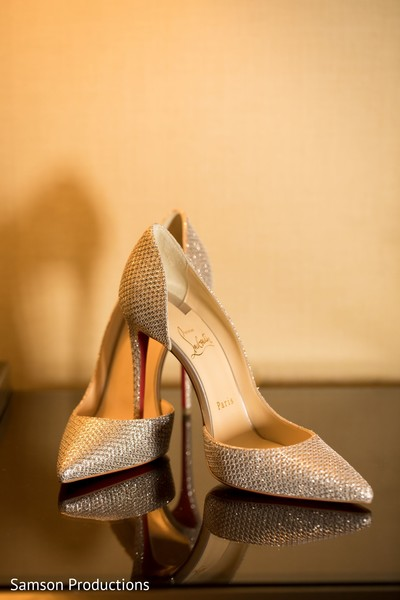 The shoes to be used by Maharani at the reception