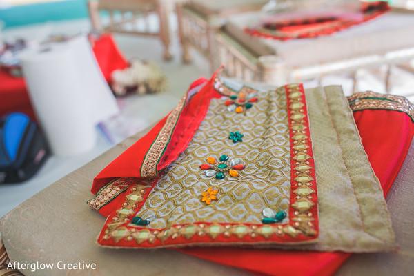 Indian wedding accessories details.