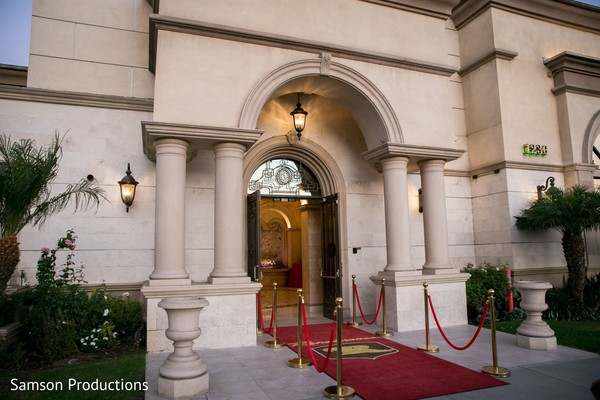 The entrance of the venue