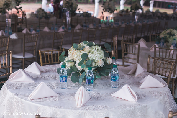 Light pink indian wedding table cloth napkins.