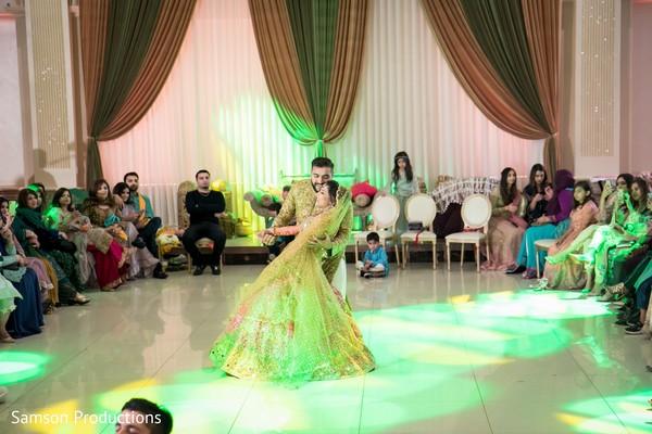 Indian groom and his Maharani dancing