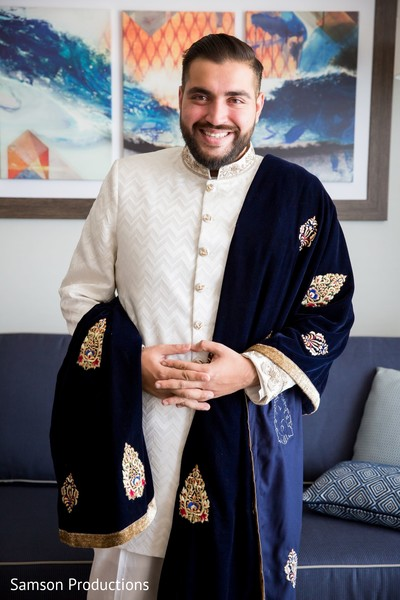 The Indian groom ready for the ceremony