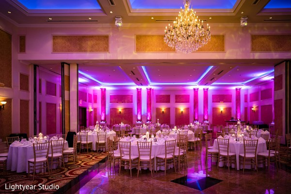 Indian wedding reception lighting.
