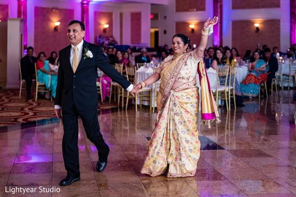 Indian wedding reception fashion.