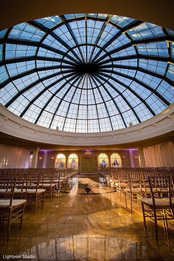 Incredible Indian wedding ceremony glass roof.