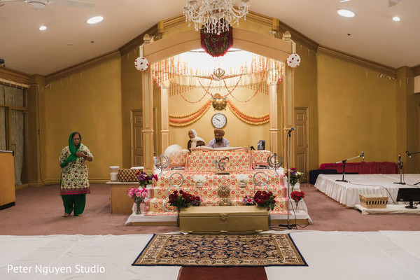 South Indian wedding ceremony decorations.