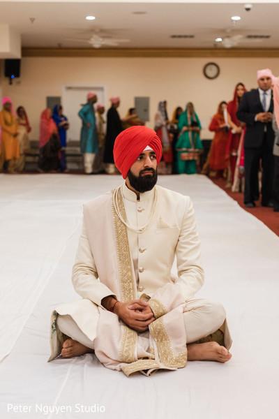 Raja ready to meet his bride at wedding ceremony.