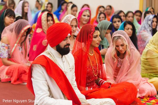 Sikh Indian wedding ceremony capture.