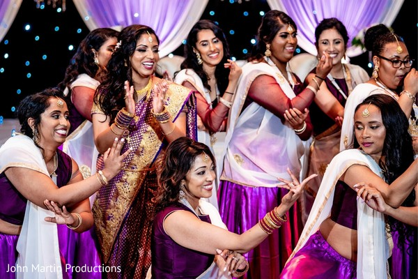 Indian bride and bridesmaids reception choreography.