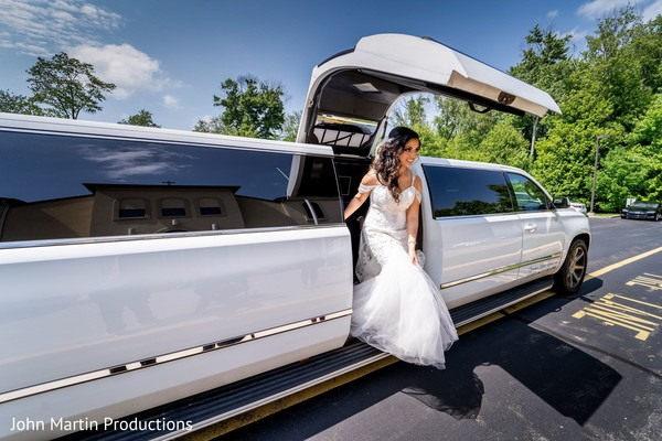 Maharani getting out fo limousine heading to her wedding.