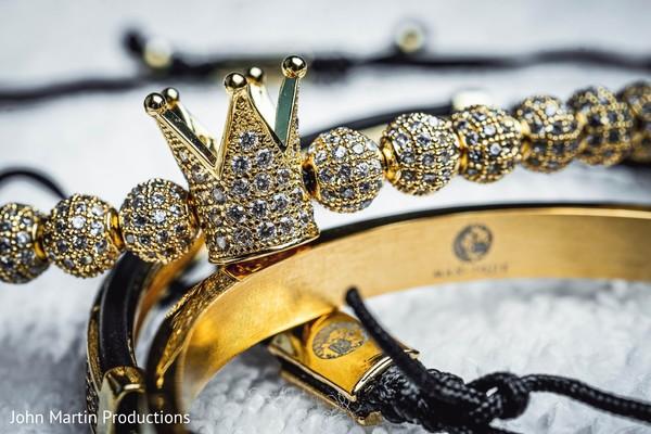 Yellow gold with diamonds Indian wedding bracelets.