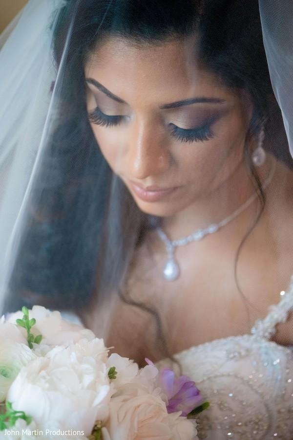 Maharani on her white wedding attire.