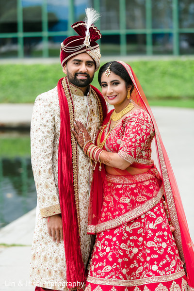 Indian couple posing together