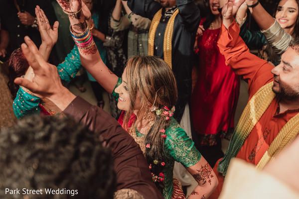 Maharani dancing at pre-wedding party.