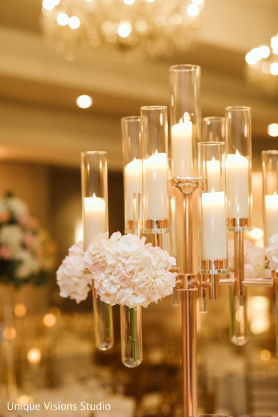 Candles for the reception.