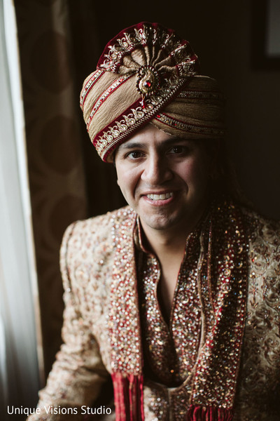 Indian groom ready for the hindu wedding.