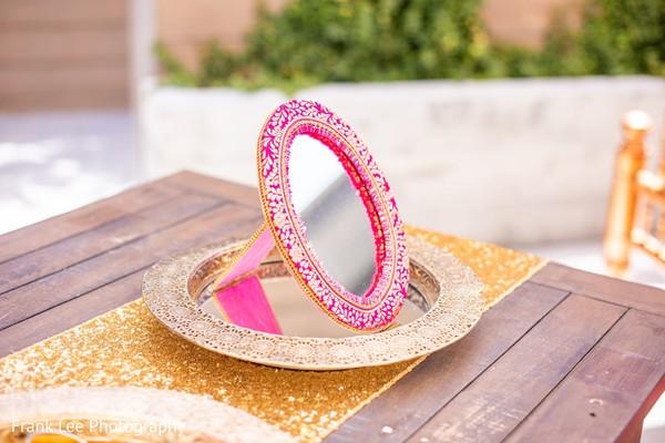 Indian wedding mirror idea
