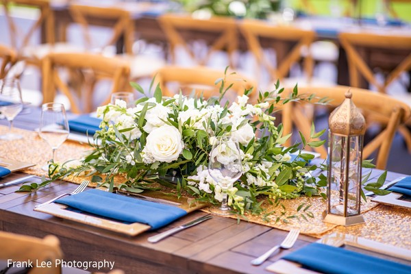 Indian wedding table features