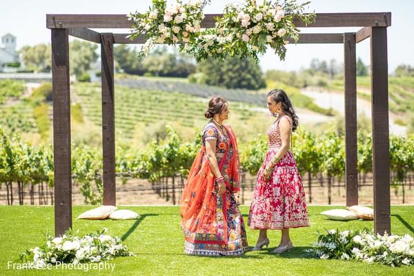 Indian bridal and bridesmaid