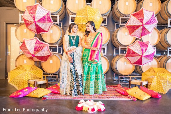 Indian brides looking at each other