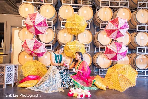Indian brides looking happy