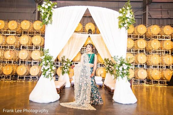 indian bridal pine dupatta