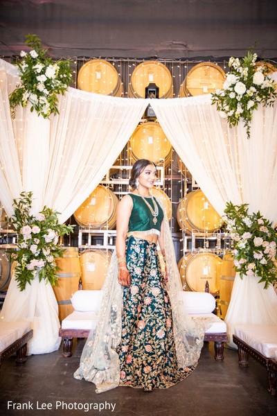 Indian bridal pine lehenga