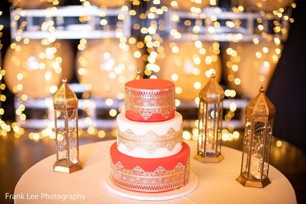 Indian wedding cake photo boot