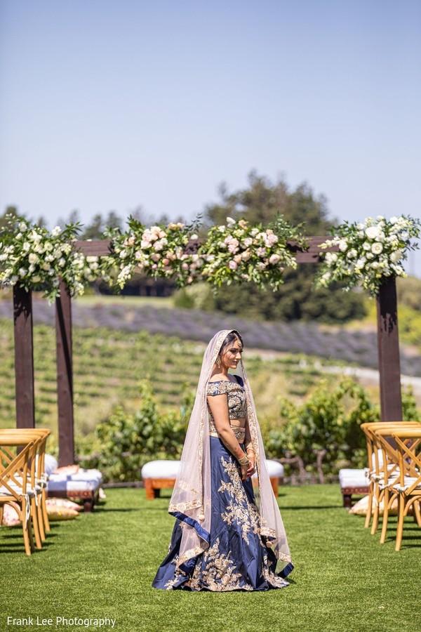 Indian bridal waiting outdoor