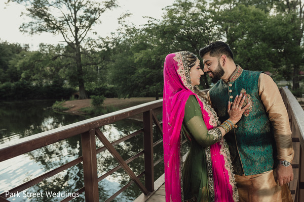 Indian couple about to kiss