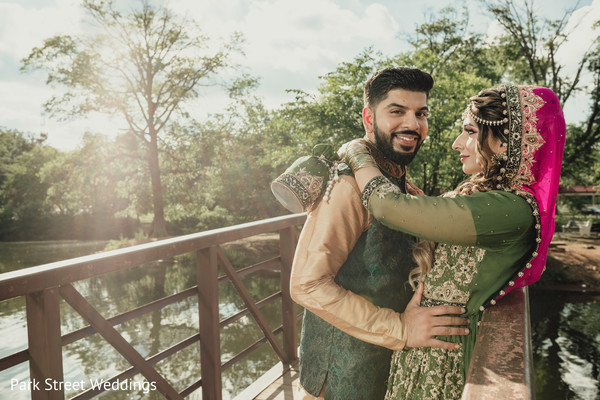 Indian couple hugging day portrait
