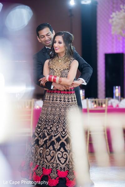 Indian groom behind bridal