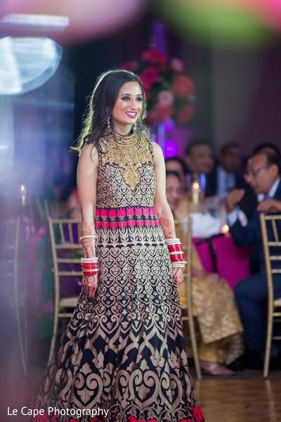 Indian bridal waiting and smiling