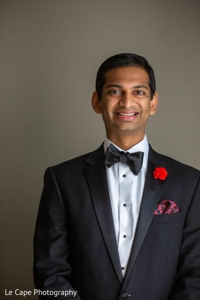 Brunette Indian groom