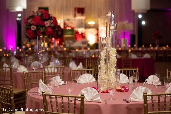 Pink Indian wedding table cloth