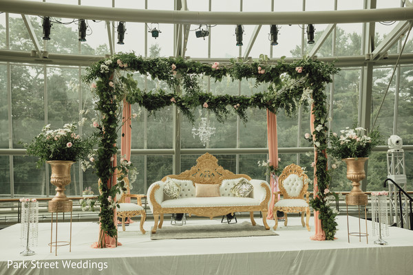 indian wedding ceremony stage during daylight