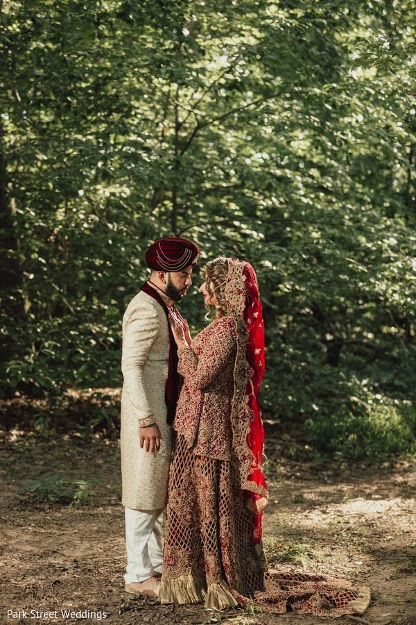 Indian couple wedding photo session.