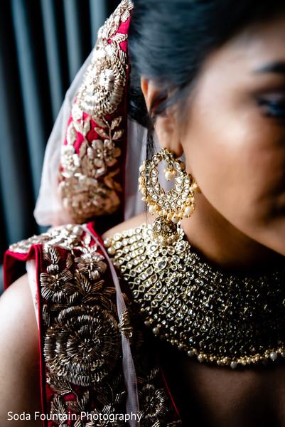 Indian bridal ceremony kundan jewelry.