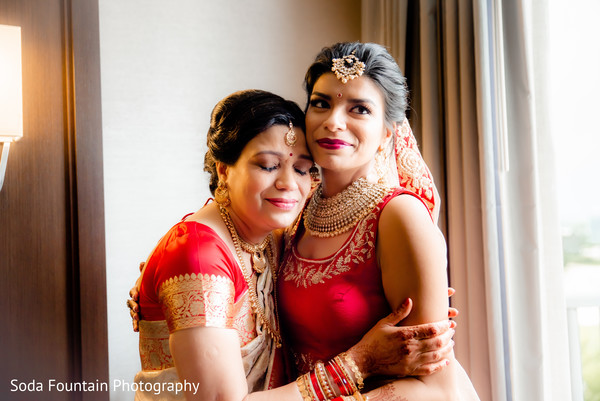 Indian bride with mother  photography.