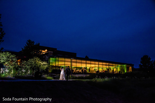 Indian wedding reception venue photography.