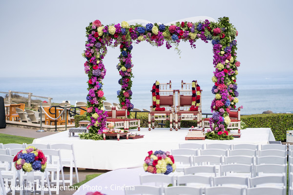 Beautiful flowered mandap