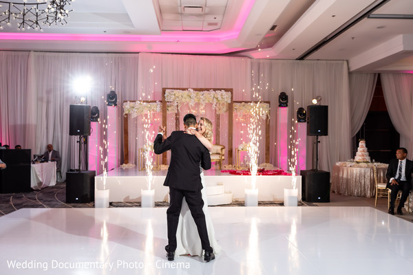 Indian couple's reception first dance capture.